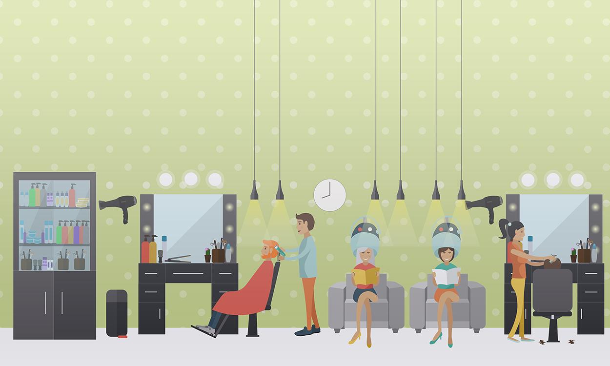 Salon de coiffure papiers peints photo 3D