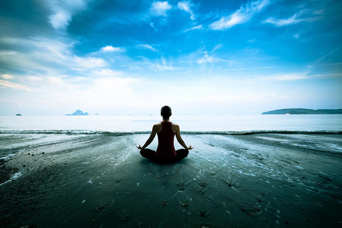 Routine de yoga tapisserie