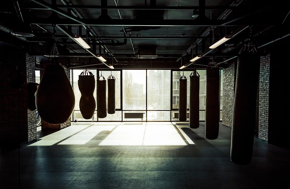 Salle de kickboxing papier peint 3d