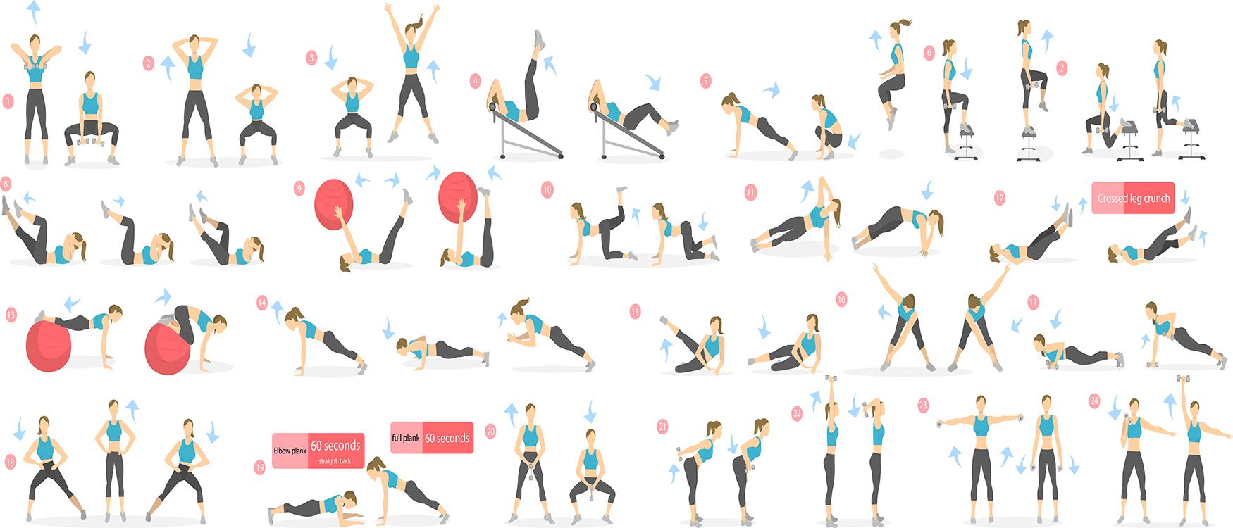 Exercices de Pilates papiers peints photo 3D