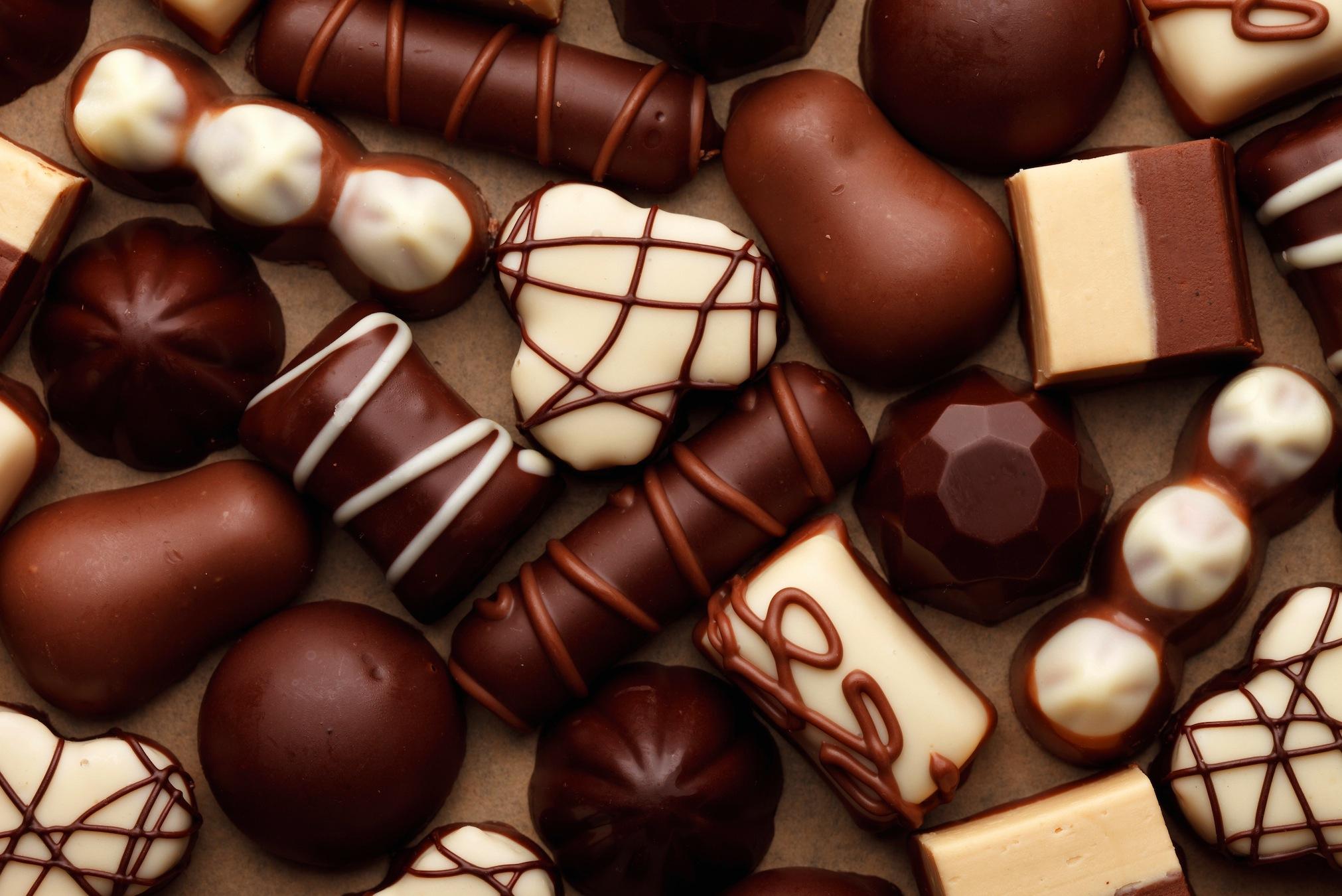 Chocolat solide papier peint 3d