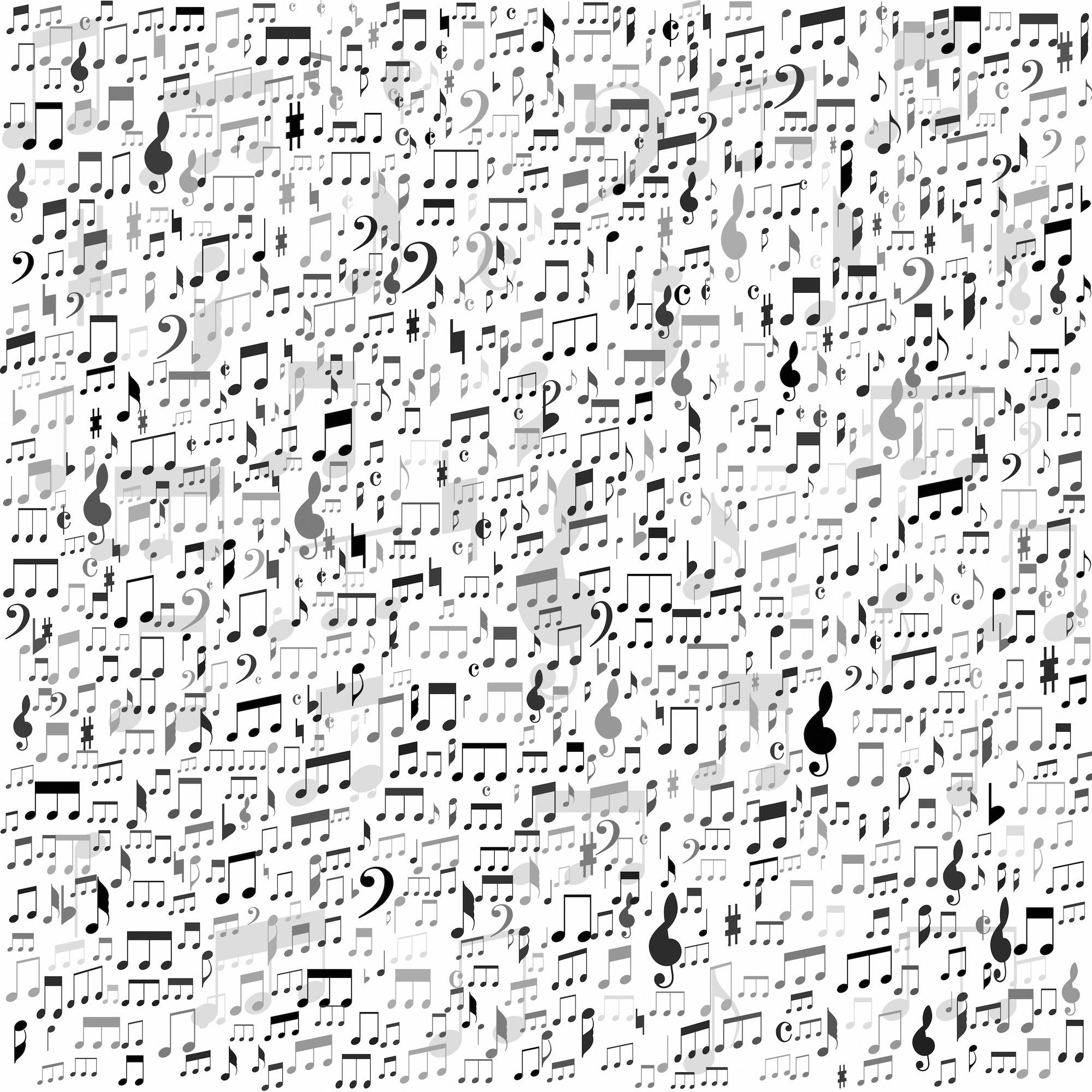 Notes et termes de musique decoration murale