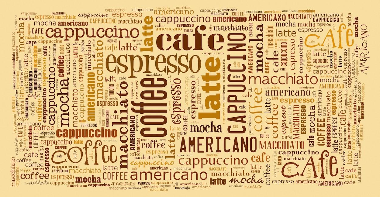 Espresso et cappuccino tapisserie murale