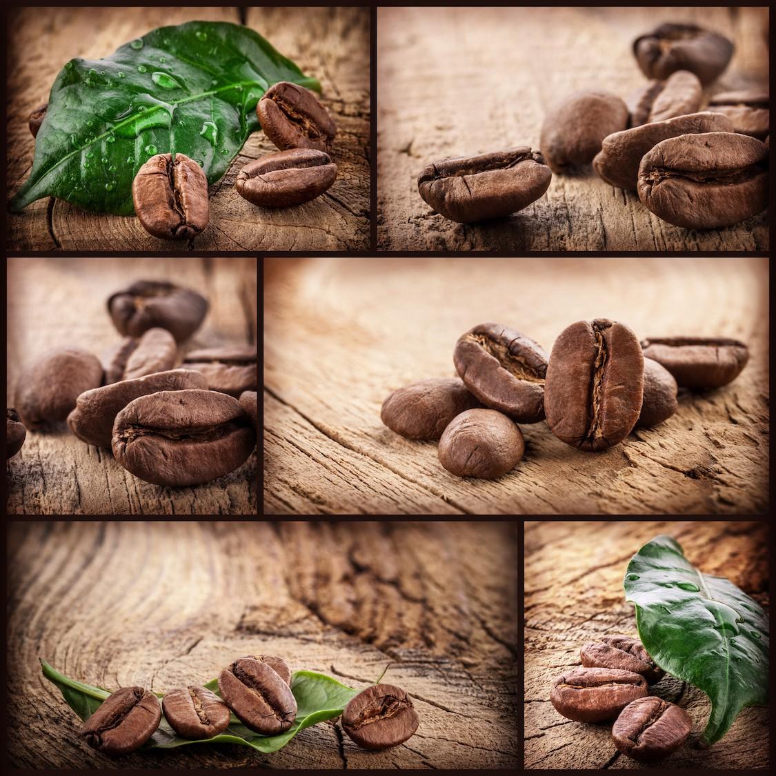 Grains de café tapisserie