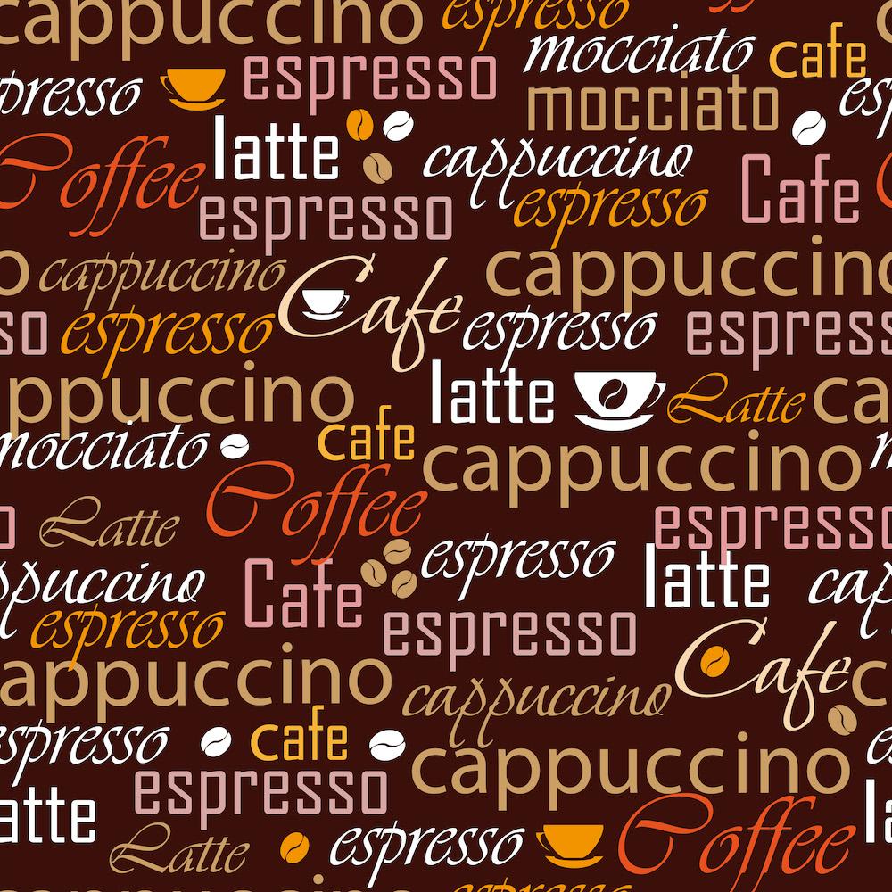 Variété de café papier peint 3d