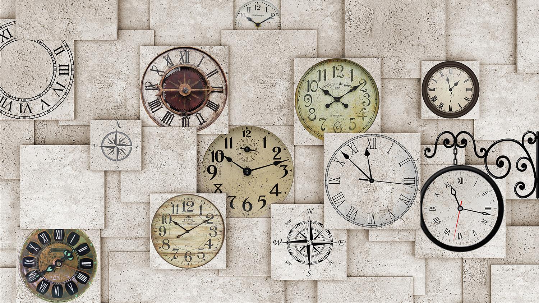 Horloges murales papiers peints photo