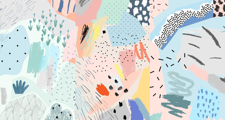 Un monde abstrait papiers peints photo 3D