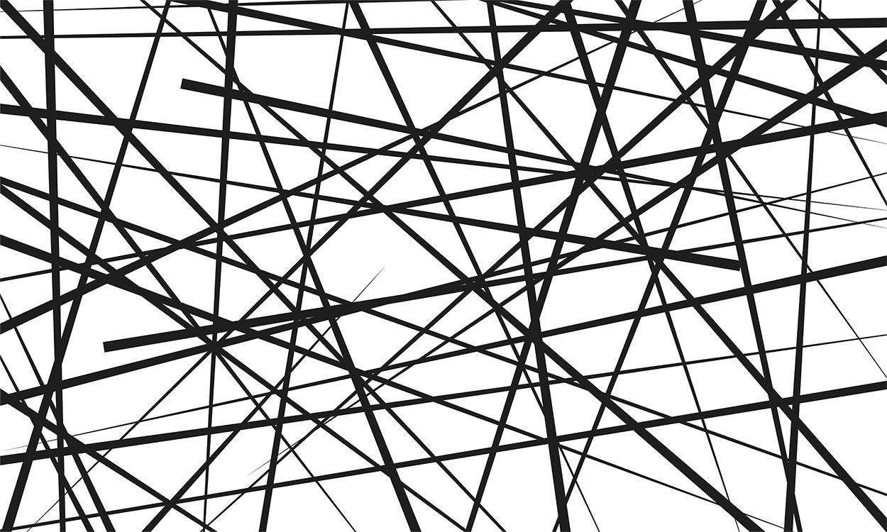 Lignes Abstraites - Art Moderne Papier Peint Photo