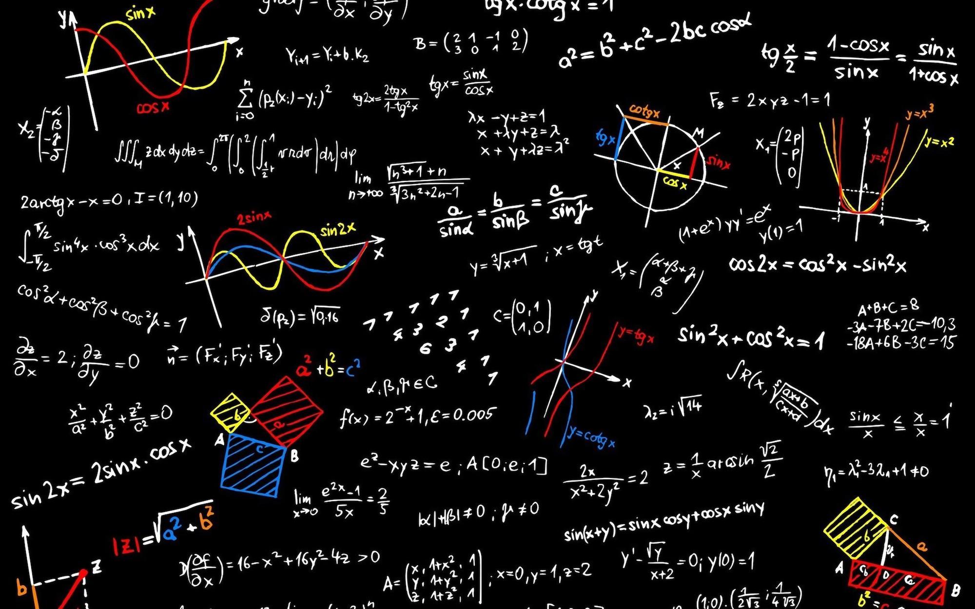 Formules de trigonométrie papiers peints photo 3D