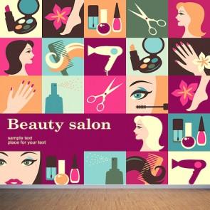 Salon de beauté tapisserie murale appliqué sur le mur