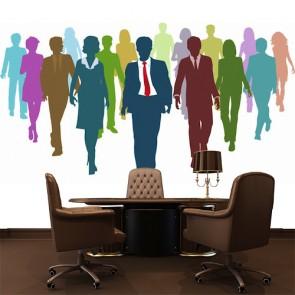 Esprit d'équipe papier peint 3d appliqué sur le mur