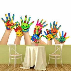 Deux mains valent mieux qu'une decoration murale appliqué sur le mur