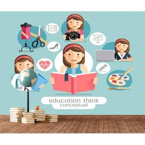 L'éducation découvre les talents papier peint appliqué sur le mur