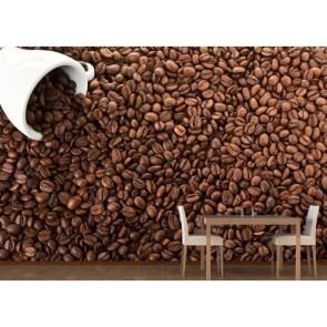 Odeur du café tapisserie appliqué sur le mur