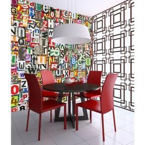 Roue de la Fortune papier peint 3d appliqué sur le mur