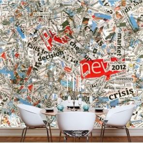 Voile soufflant papiers peints photo appliqué sur le mur