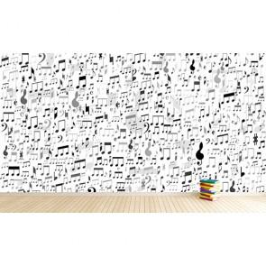 Notes et termes de musique decoration murale appliqué sur le mur