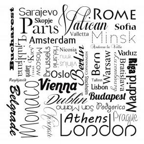 Noms De Villes En Noir Et Blanc