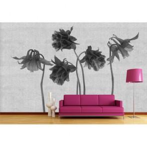 Art floral tapisserie murale appliqué sur le mur