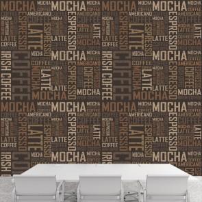 Typographie de café tapisserie