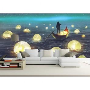 Chasseurs de lune tapisserie murale appliqué sur le mur
