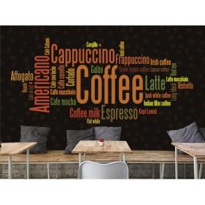 Café tapisserie appliqué sur le mur