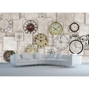 Horloges murales papiers peints photo appliqué sur le mur