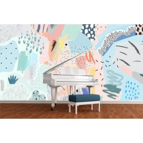 Un monde abstrait papiers peints photo 3D appliqué sur le mur