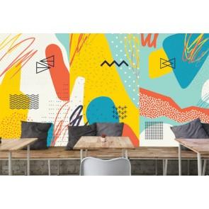 Formes compatibles papier peint appliqué sur le mur