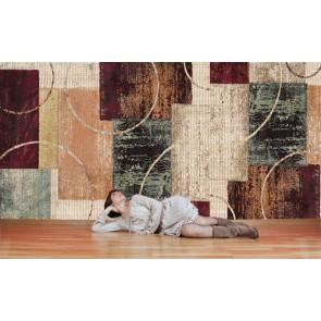 Motif de tapis tapisserie appliqué sur le mur
