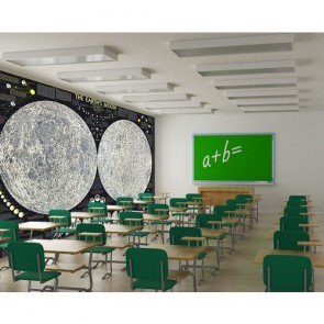 Mouvement de la lune decoration murale appliqué sur le mur