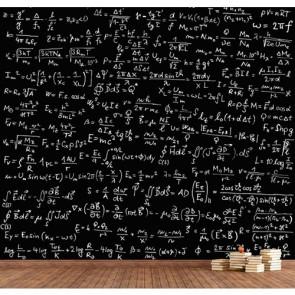 Formules mathématiques decoration murale appliqué sur le mur