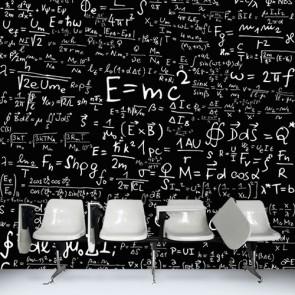 Formules de physique tapisserie murale appliqué sur le mur