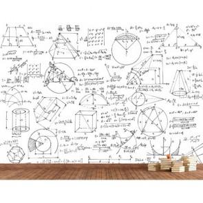 Géométrie papier peint appliqué sur le mur