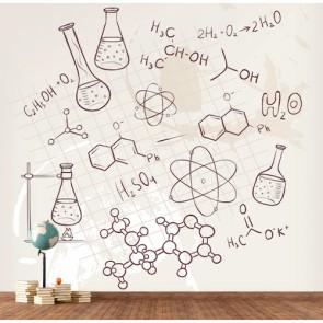 Tubes à essai papiers peints photo appliqué sur le mur