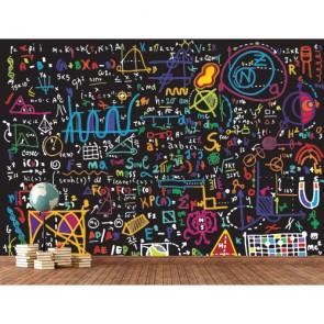 Formules colorées decoration murale appliqué sur le mur
