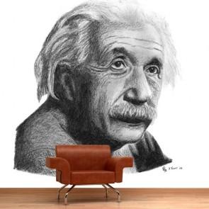 Albert Einstein decoration murale appliqué sur le mur