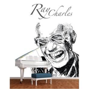 Ray Charles tapisserie appliqué sur le mur