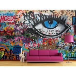 Observation papiers peints photo appliqué sur le mur