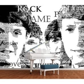 Légendes de la musique papiers peints photo 3D appliqué sur le mur