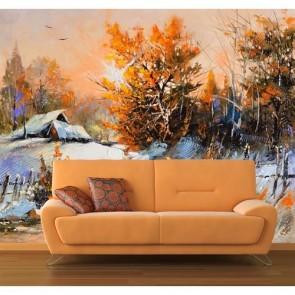 feux de forêt papier peint 3d appliqué sur le mur