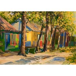 Peinture De Jardin Colorée