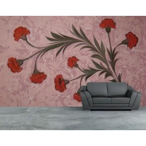 Art de marbre floral decoration murale appliqué sur le mur