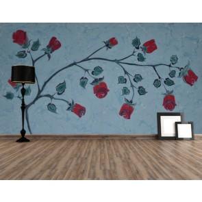 Art de marbre rose tapisserie murale appliqué sur le mur