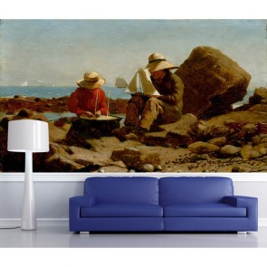 Conception de navires papiers peints photo appliqué sur le mur