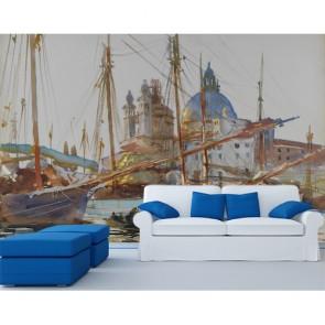 Église de Venise papiers peints photo 3D appliqué sur le mur