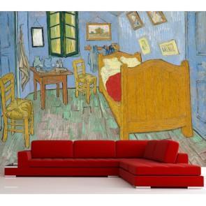 Van Gogh - La chambre tapisserie murale appliqué sur le mur