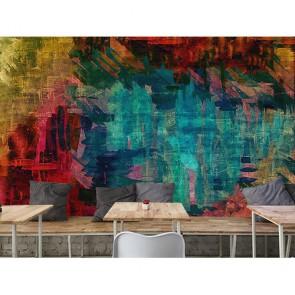 Oeuvres abstraites papiers peints photo 3D appliqué sur le mur