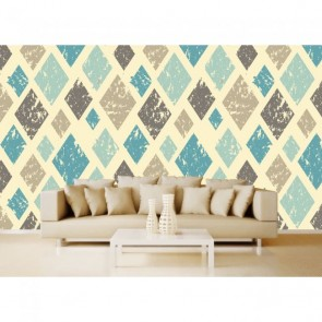 Tranches rétro tapisserie appliqué sur le mur