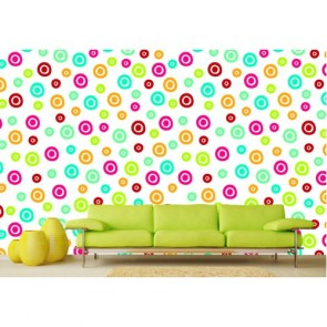 Cercles colorés tapisserie murale